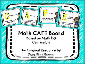 Math Cafe Board - Guided Math