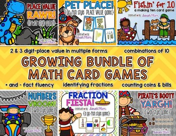 Growing Math Card Game Bundle {Place Value, Number Sense,