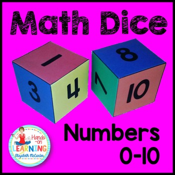 Number Dice Math Center