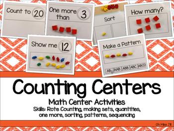 Preschool and Kindergarten Math Center Activities