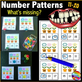 Math Center Activity Counting Numbers 11-20 Missing Number
