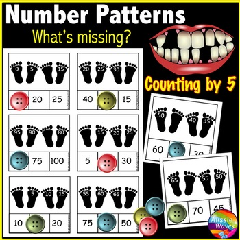 Math Center Activity Counting by 5 Complete Missing Number