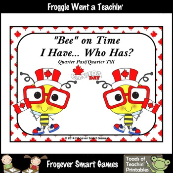Time--Bee on Time I Have... Who Has/ (Quarter Past/Quarter