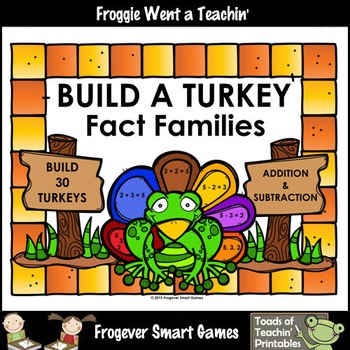 Fact Families--Build a Turkey Addition/Subtraction