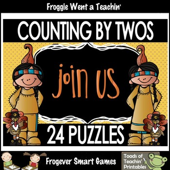 """Skip Counting--Counting by Twos Puzzles """"Join Us"""""""