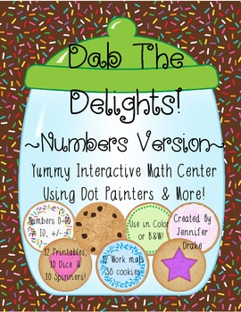 Math Center ~Dab The Delights!~ Interactive Center Using D