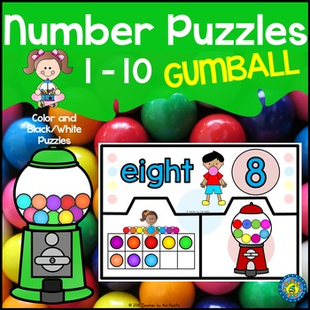 Math Center: GUMBALL Number Puzzles 1 – 10