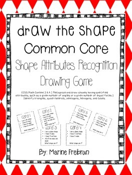 Math Center Game: Draw the Shape (Sample of Common Core Ma