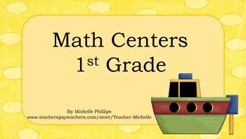 Math Center Games - Addition & Subtraction - 1st Grade