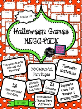 FLASH SALE: Halloween Activities QUICK AND EASY Literacy Numeracy