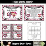 Valentine's Day--Happy Hearts Scoot into Time (o'clock/half past)
