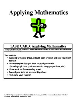 Math Center: Identify and apply mathematics to everyday ex