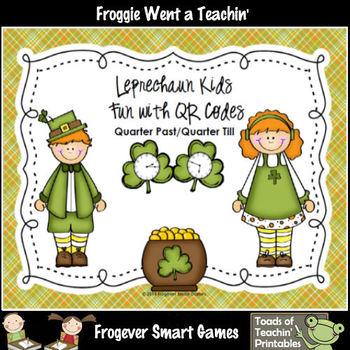 St.Patrick's Day--Leprechaun Kids Fun with QR Codes (Quart