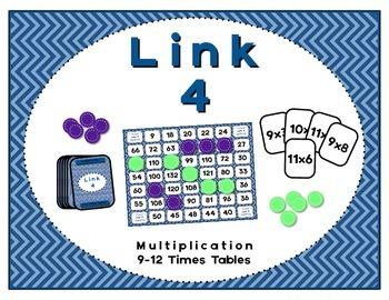 Math Center - Link 4: Multiplication Board Game - 9-12 Tim