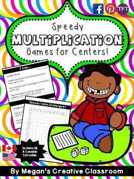 Multiplication Center: Speedy Tables