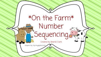 Math Center:  On the Farm Number Sequencing