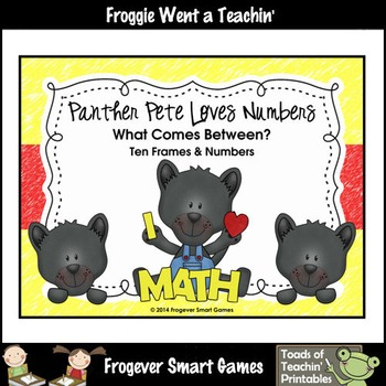 Math Center--Panther Pete Loves Numbers What Comes Between