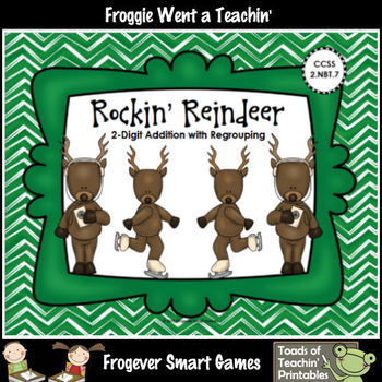 Addition--Rockin' Reindeer (2-Digit Addition with Regrouping)