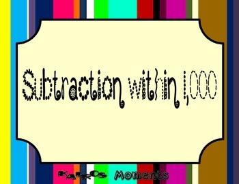 Math Center:  Subtraction within 1000