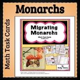 Monarch Butterflies Math Task Cards