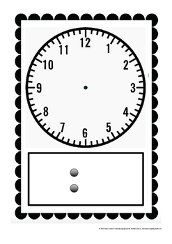 Math Center - Telling Time Clock