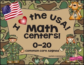 Math Center and Flash Cards for  Kindergarten - First Grad
