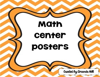 Math Center posters