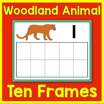 Woodland Animal Ten Frame Math Center