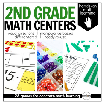 Math Centers {2nd Grade} 25 Centers, Labels, and Visual Di