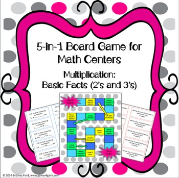 Multiplication Games: 5-in-1 Multiplication Facts Games (2