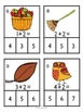 Math Centers - Add, Clip and Glue - Fall themed