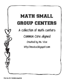 Math Centers Bundle for Upper Elementary