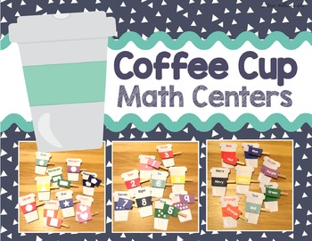 Math Centers - Coffee Cups
