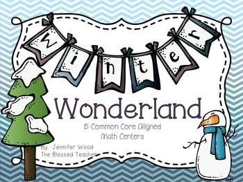 Math Centers {Common Core Aligned}...Winter Wonderland