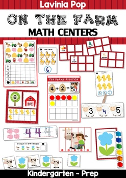 Farm Math Centers {Pre-k & Kindergarten}