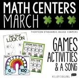 March Math Centers (1st Grade)