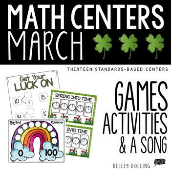 Math Centers - March (Common Core - 1st Grade)