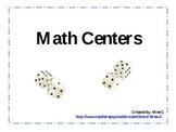 Math Centers (Number Sense)