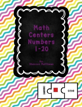 Math Centers Numbers 1-20