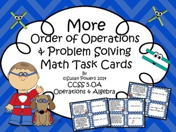 Math Centers Order of Operations Activity with Problem Sol