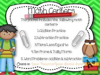 Math Centers PK-1st Grade