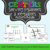 Solving Equations and Inequalities Math Centers Activity Bundle