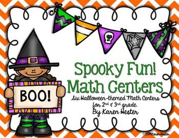 Halloween Math: Spooky Fun Math Centers!