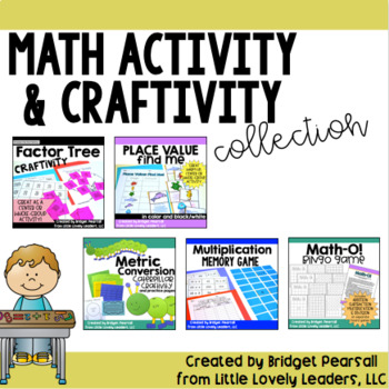Math Centers and Craftivity Pack