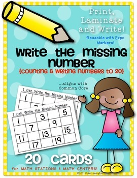Missing Numbers to 20 {Math Center or Station Activity} Pr