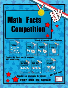 Math Facts Challenge - Math Facts Competition Bundle, (Ins