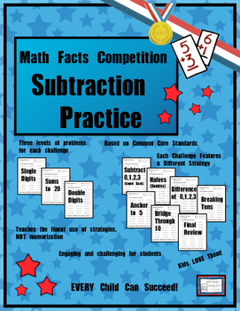 Math Facts Challenge - Subtraction Practice