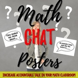 EDITABLE: Math Chat Posters for Accountable Talk