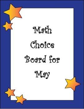 2nd Grade End of Year Math Choice Board