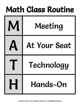 Math Class Routine/Structure